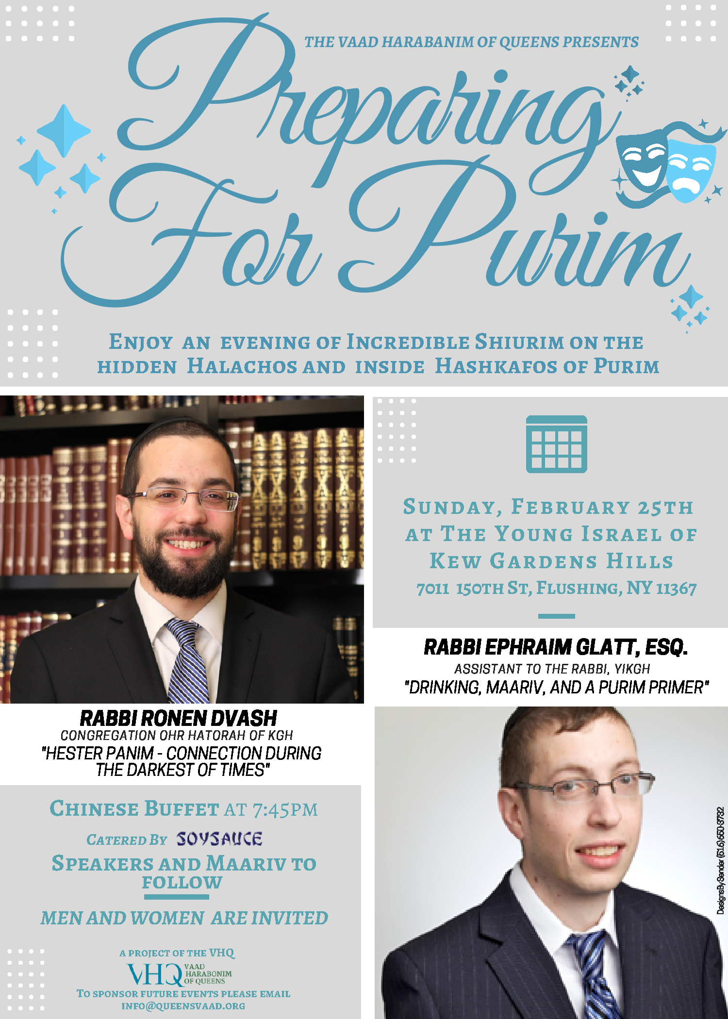 Preparing for purim vaad harabonim of queens - Young israel of kew garden hills ...
